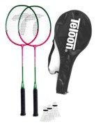 Zestaw do badmintona TELOON TL020 2 rakietki +3 lotki