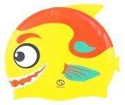 Czepek basenowy silikonowy dziecięcy Rybka F02 żółto-czerwony