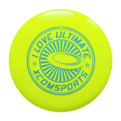 FRISBEE X-COM UT175 i LOVE ULTIMATE YELLOW