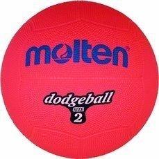 Piłka gumowa Molten DB2-R dodgeball size 2