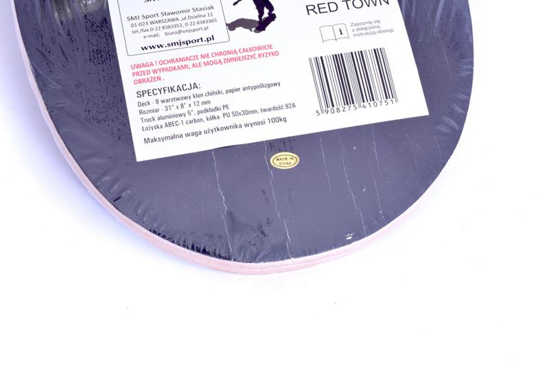 Deskorolka profilowana SMJ Sport CR-3108SB Red Town 2016 - przecena